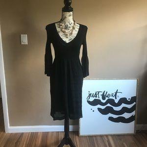 Vintage M MISSONI Black Bell Sleeve Dress